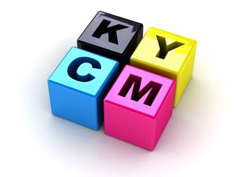 padrão de cores CMYK