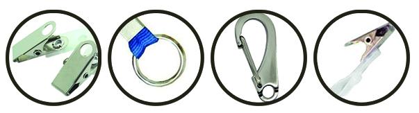 Alguns dos possíveis terminais de cordões para diferentes finalidades