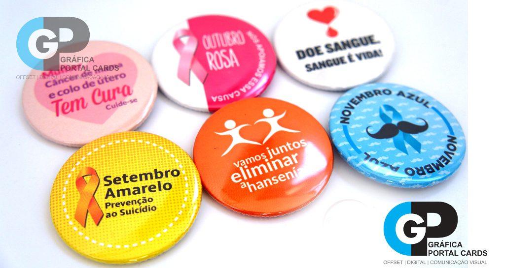 botons para campanha de saúde