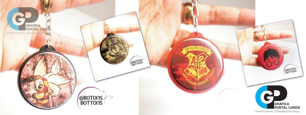 chaveiros personalizados para brindes tema harry potter