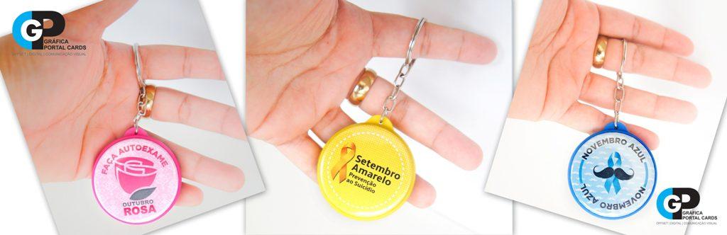 chaveiros_personalizados_para_brindes_outubro_rosa_novembro_azul_setembro_Amarelo